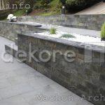 nowoczesny ogród łupek indyjski dekore