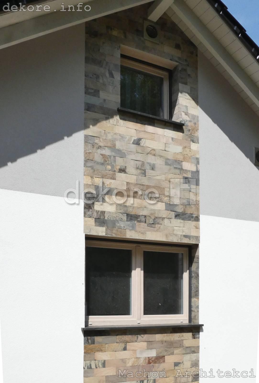 łupek indyjski elewacja domu z kamienia naturalnego