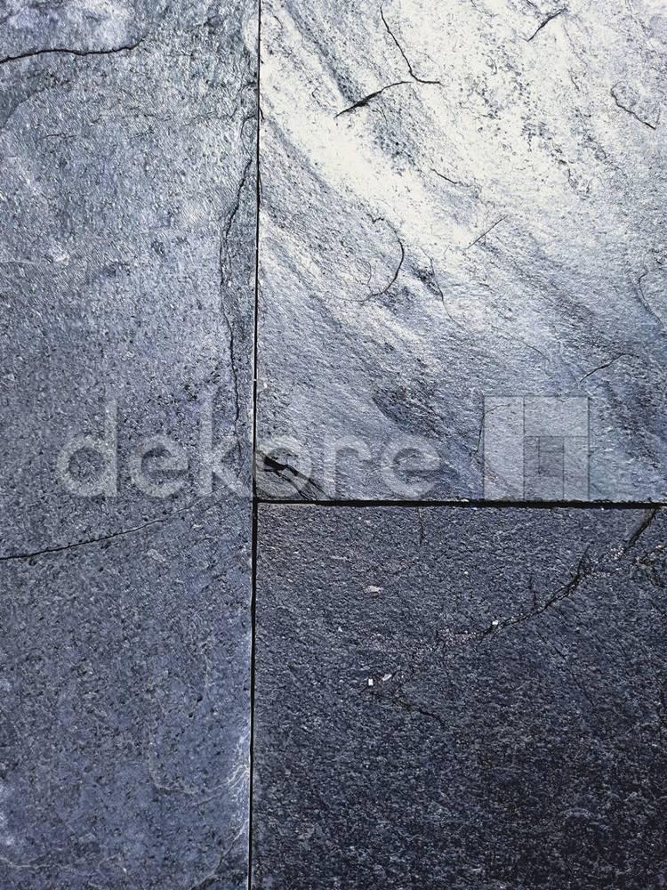 silver grey duży format 90x45 naturalny kamień łupek warcytowy indyjski importer dekore