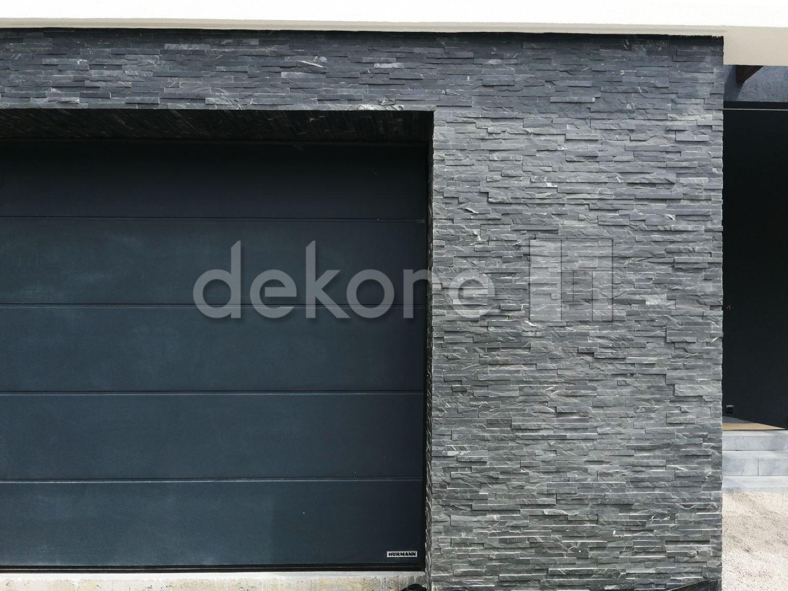 nowoczesny dom z elewacja z kamienia naturalnego