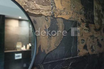łazienka z kamienia naturalnego NEVADA caligornia gold wnętrze duży format
